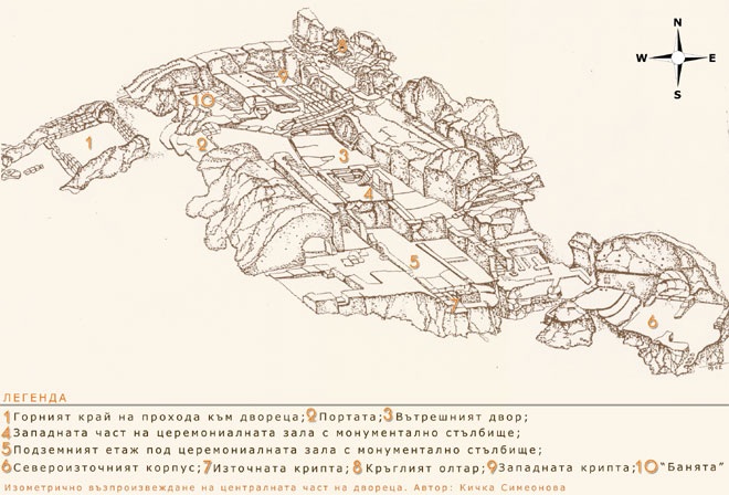 Перперикон - Изометрична скица